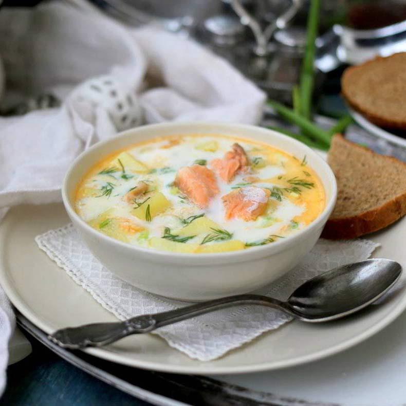 финского рыбного супа на Рецепт молоке супа
